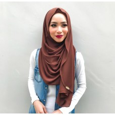 Instant Shawl Luxe V2 Chiffon (Brownie)