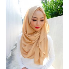Instant shawl Luxe V2 Chiffon (Caramel Brown)