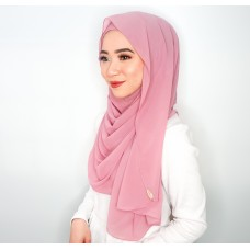 Instant shawl Luxe V2 Chiffon (Mauve Pink)