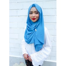 Instant shawl Luxe V2 Chiffon (Tinkerbell Blue)