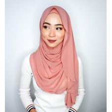 Instant shawl Luxe V2 Chiffon (Dusty Pink)