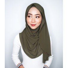 Instant shawl Luxe V2 Chiffon (Burnt Olive)