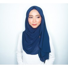 Instant shawl Luxe V2 Chiffon (Navy Blue)