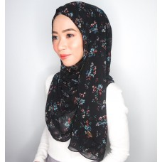 Instant shawl Luxe V2 Chiffon (Printed Black Series: Beatrice)
