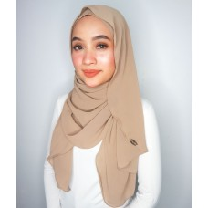 Instant shawl Luxe V2 Ribbed Chiffon (Latte)