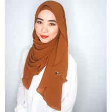 Instant shawl Luxe V2 Ribbed Chiffon (Maple syrup)