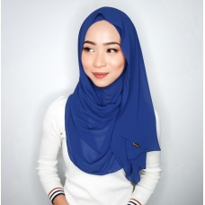 Instant shawl Luxe V2 Chiffon (Royal Blue)