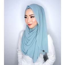 Instant shawl Luxe V2 Chiffon (Blue Lagoon)