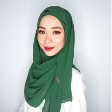 Instant shawl Luxe V2 Chiffon (Emerald green)