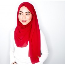 Instant shawl Luxe V2 Chiffon (Red Berries)
