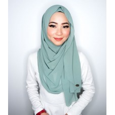 Instant shawl Luxe V2 Chiffon (Mermaid's Tale Green)