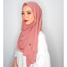 Instant shawl Luxe V2 Chiffon (Pink Buff)