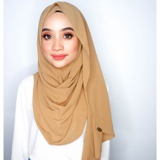 Instant shawl Luxe V2 Chiffon (Honey Wheat Brown)