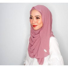 Instant Shawl Luxe V2 Satin Silk Series (Pink Lemonade)