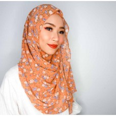 Instant shawl Luxe V2 (Chiffon printed series: Sophie in Toffee)