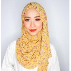 Instant shawl Luxe V2  (Chiffon printed series: Sophie in Yellow)