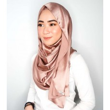 Eid Series Instant shawl Luxe V2 Satin silk series (Rose Gold)