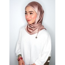 CALI Semi Instant Shawl with Inner (Satin Silk - Rose Brown)