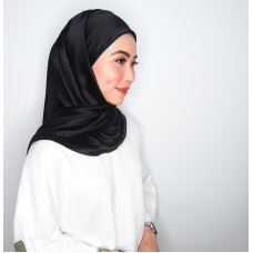CALI Semi Instant Shawl with Inner (Satin Silk - Black)