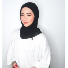 CALI Semi Instant Shawl with Inner (Chiffon - Black)