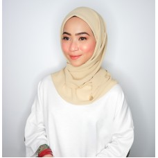 CALI Semi Instant Shawl with Inner (Chiffon - Gold Sunkissed)