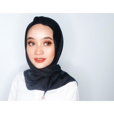 Chloe Semi Instant Shawl (Satin Silk - Black)