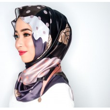 Chloe Semi Instant Shawl (Printed Satin silk - Demi)