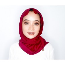 Chloe Semi Instant Shawl (Satin - Crimson Red)