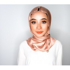 Chloe Semi Instant Shawl (Satin silk - Rose Gold)