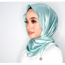 Chloe Semi Instant Shawl (Satin Silk - Tiffany)