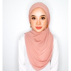 Cyra Semi Instant (Cross Inner attached with long shawl - Deep Blush)
