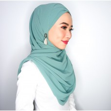Cyra Semi Instant (Cross Inner attached with long shawl - Mermaid's Tale Green)
