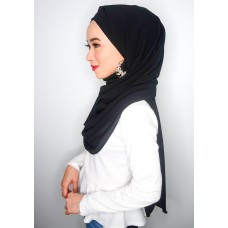 Cyra Semi Instant (Cross Inner attached with long shawl - Black)