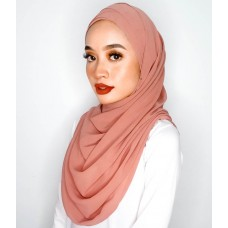Cyra Semi Instant (Cross Inner attached with long shawl - Burnt Sienna)
