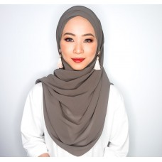 Cyra Semi Instant (Cross Inner attached with long shawl - Smoke Grey)