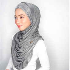 Cyra Semi Instant (Cross Inner attached with long shawl - Iron Free Metallic Greyhound)