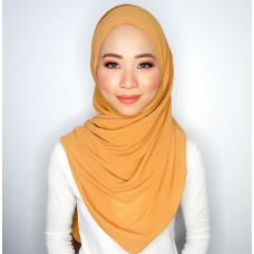 Cyra Semi Instant (Cross Inner attached with long shawl - Mustard)