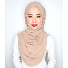 Cyra Semi Instant (Cross Inner attached with long shawl - Perfect Plum)