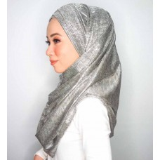 Cyra Semi Instant (Cross Inner attached with long shawl - Iron Free Metallic Sketches)