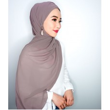 Cyra Semi Instant (Cross Inner attached with long shawl - Taupe)
