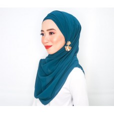 Cyra Semi Instant (Cross Inner attached with long shawl - Atlantis teal)