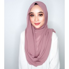 Instant Shawl Embellished (Crystal Series) : Deep Mauve