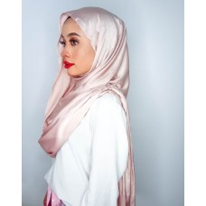 Instant Shawl Embellished (Satin silk series): Toasted Pink