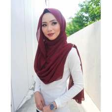 Instant Shawl Embellished (Crystal Series) : Apple Spice Red
