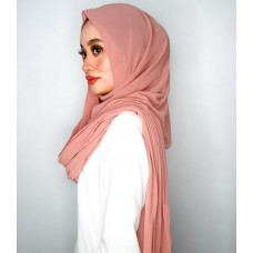 Instant Shawl Embellished (Casual Series) : Burnt Sienna