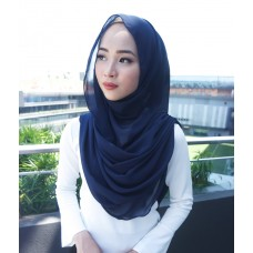 Instant Shawl Embellished (Casual Series) : Navy Blue
