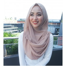 Instant Shawl Embellished (Casual Series) : Hazelnut