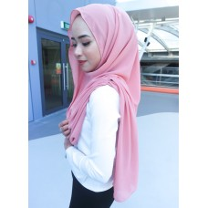 Instant Shawl Embellished (Casual Series) : Dusty Pink