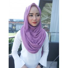 Instant Shawl Embellished (Casual Series) : Purple Iris