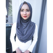 Instant Shawl Embellished (Casual Series) : Smoke Grey